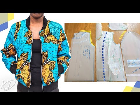 [DETAILED] BOMBER JACKET PATTERN TUTORIAL |  KIM DAVE