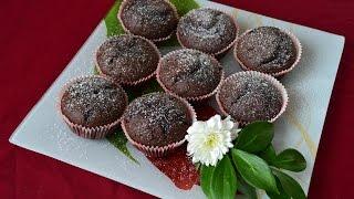 Вкусные шоколадные кексы. Пошаговое приготовление. Легко и просто!