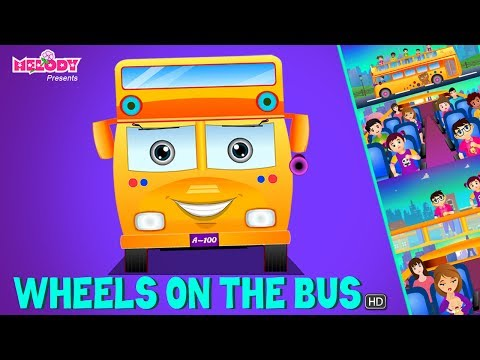 Wheels on the Bus go round and round | English Rhymes | Rhymes for Kids |