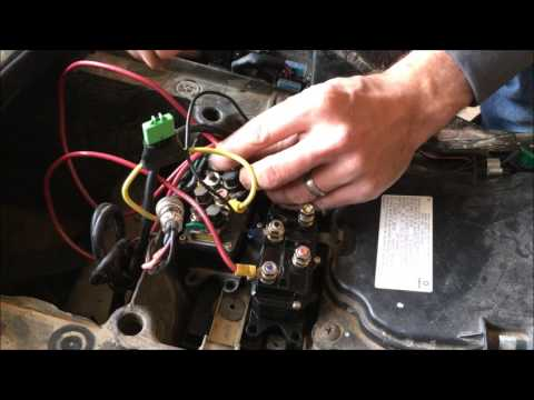 universal atv winch solenoid relay contactor installation - youtube  youtube