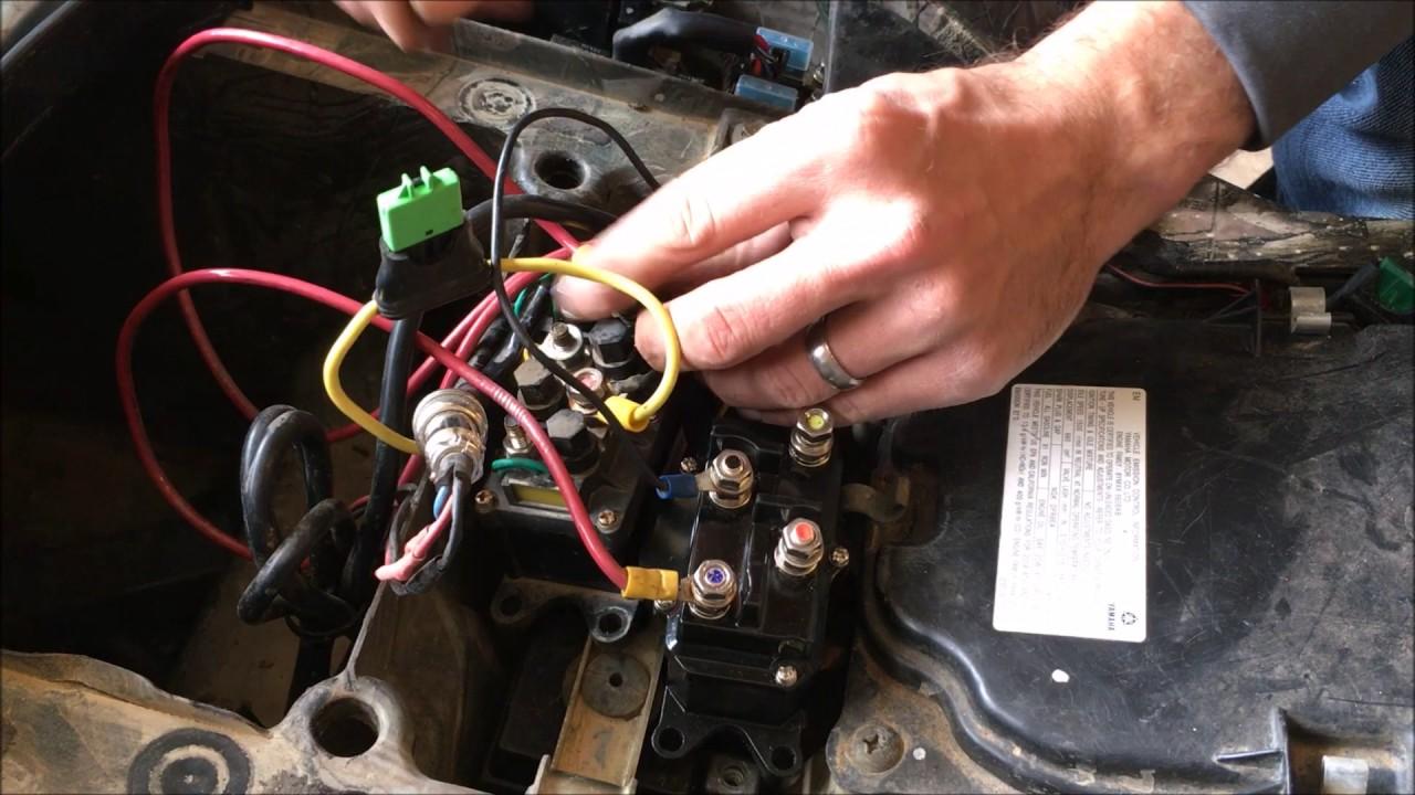 Universal ATV Winch Solenoid Relay Contactor Installation