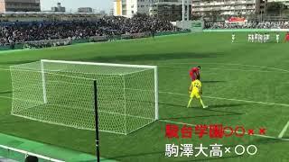 2018年11月11日(日)に行われた2018年度全国高校サッカー選手権東京大...