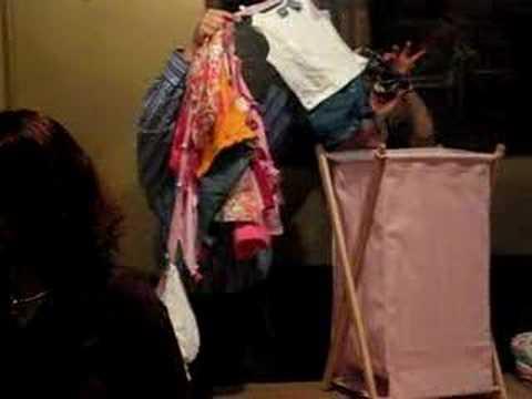 baby shower gift  clothesline in hamper, Baby shower invitation