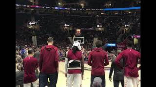 Cleveland cavaliers bench reaction to lebron James game winner vs LA Clippers