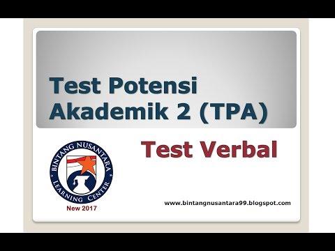 Test Potensi Akademik 2 (TPA) Test Verbal