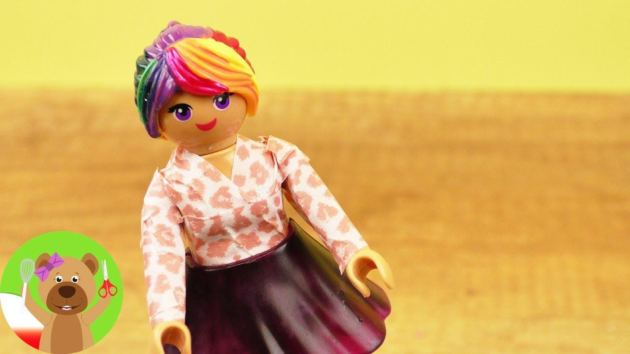 DIY Playmobil | nowy sweter dla Stelli | sweter w panterkę z Washi Tape