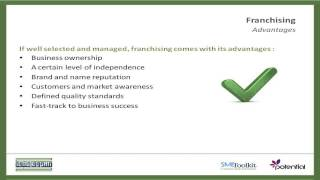 Franchising; Benefits, Advantages and Disadvantages