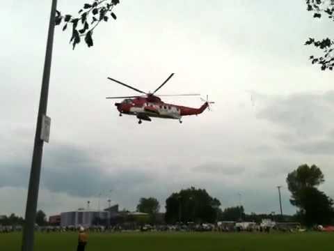 Irish coast guard helicopter in enniskillen