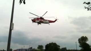Irish coast guard helicopter in enniskillen