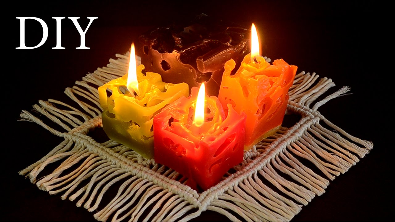 diy colorful ice candles home decor ideas recycling project youtube - Candles Home Decor