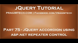 jQuery accordion using asp net repeater control