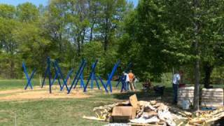 Building The New Playground Equipment
