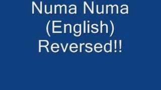 Numa Numa English Backwards