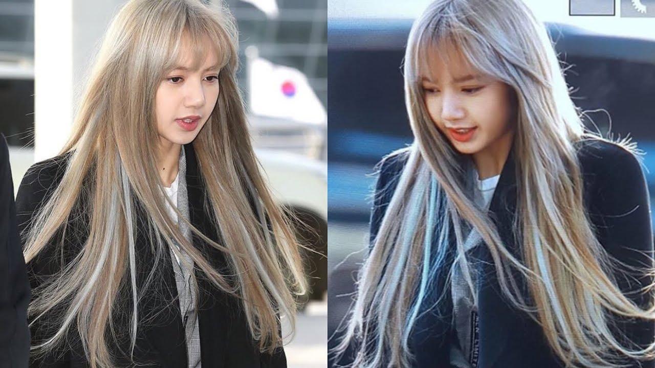 190109 Lisa Blackpink new hair color - YouTube