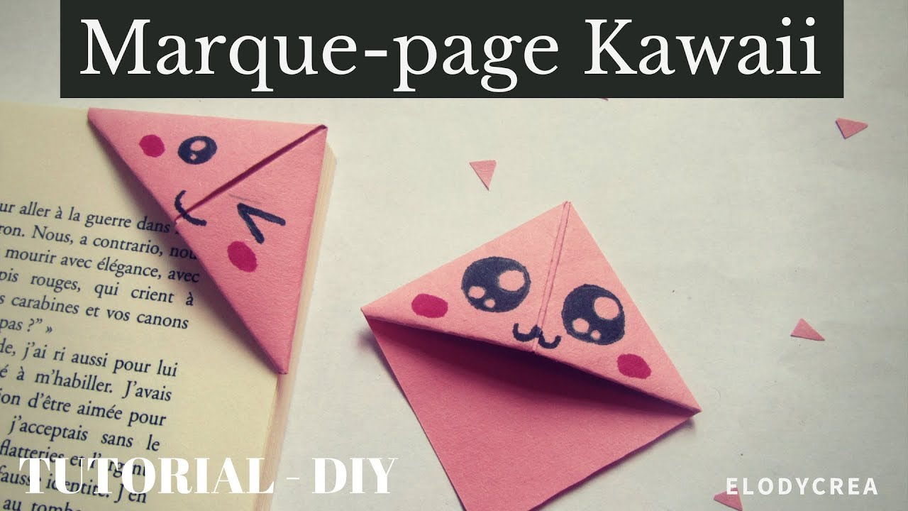 tuto diy marque page kawaii facile youtube. Black Bedroom Furniture Sets. Home Design Ideas