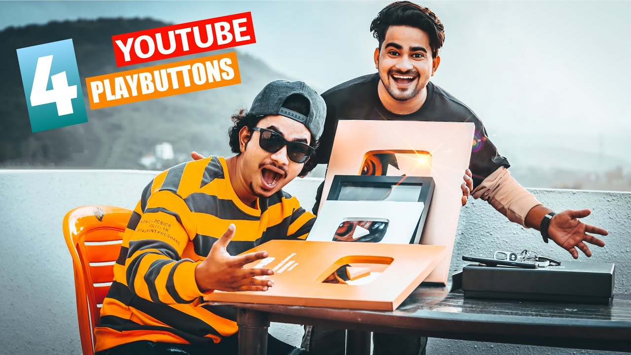 YOUTUBE SENT ME THESE 4 PLAYBUTTONS 🔥| Ur SmartMaker Shorts