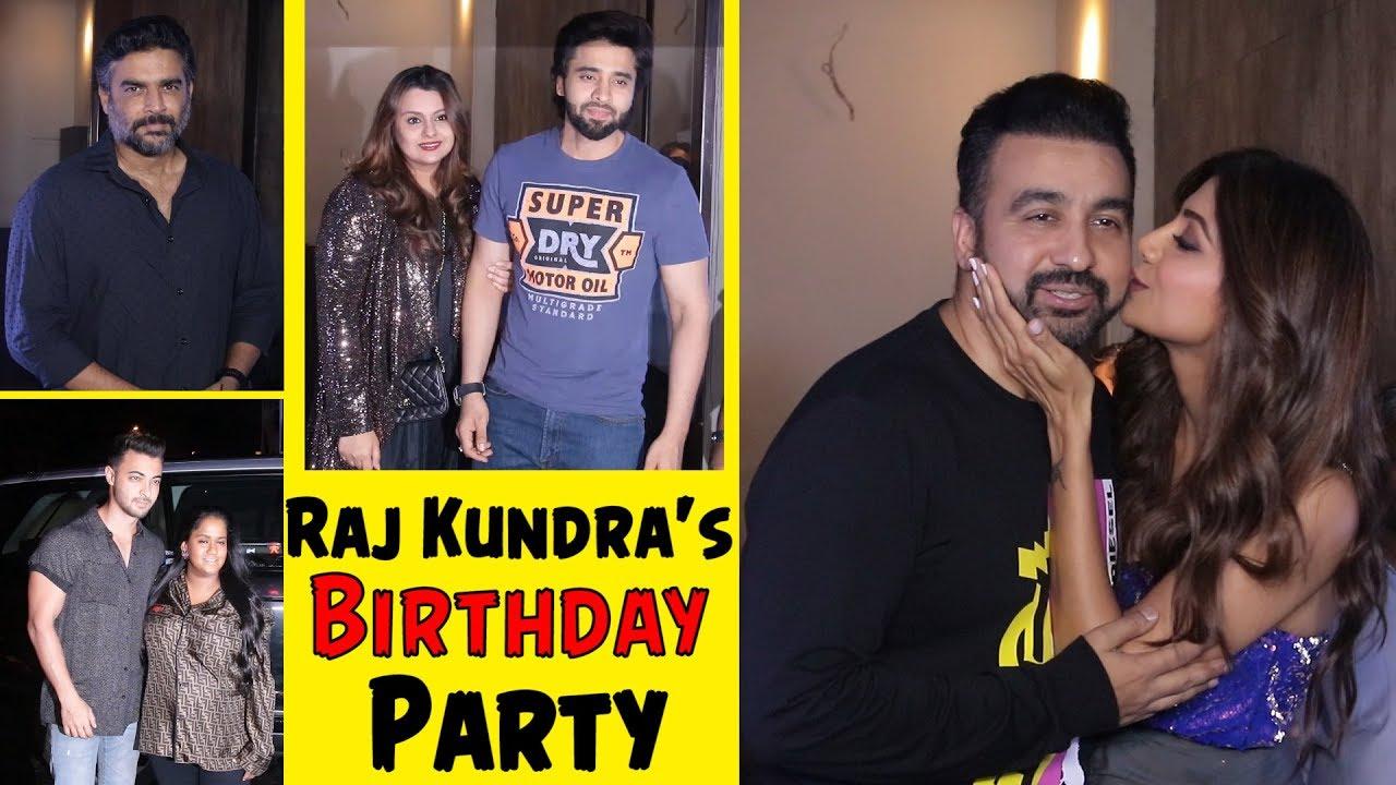 Shilpa Shetty Host Husband Raj Kundra's Birthday Party | R  Madhavan,  Aayush, Arpita And Many More
