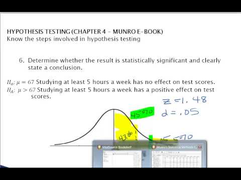 Ch 4 Hypothesis Testing & Inferential Stats