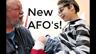 14 YEAR OLD GETS NEW AFO's!! / ANKLE & FOOT ORTHOTIC