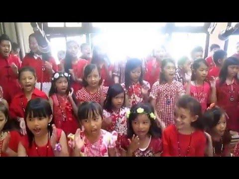Aku Bangga Jadi Anak Katolik   Perayaan Paskah Anak anak Gereja Paroki Santo Alfonsus Nandan 2016