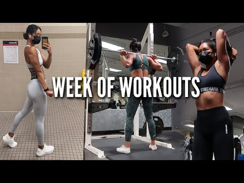 WEEK OF WORKOUTS | Training Upper + Lower Body, HIIT, & Cardio Circuits!