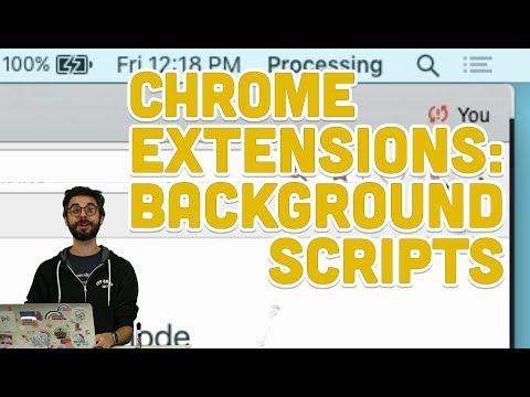 11.4: Chrome Extensions: Background Scripts - Programming With Text