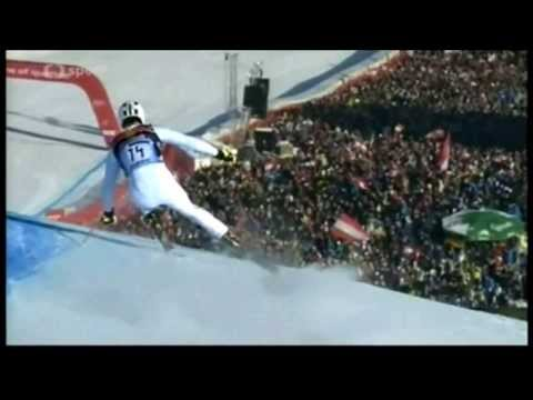 ALPINE SKIING WORLD CUP DOWNHILL SLOW MOTION
