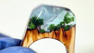 How to make a Resin Wood Ring .DIY! PierÅ›cionek z Å»ywicy i Drewna. Jewelry Art! Secret Wood