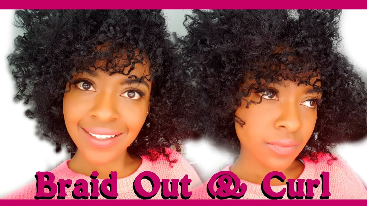 Braid Out Curl Natural Hairstyles For Black Women Youtube