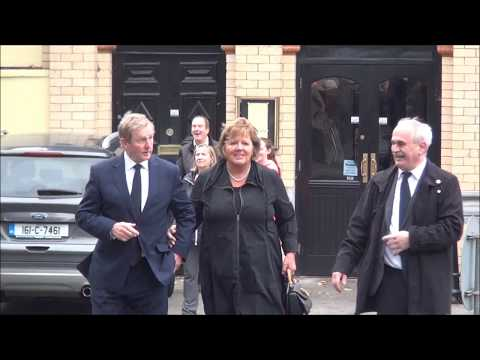 Former Taoiseach Enda Kenny arrives at the Funeral of Liam Cosgrave