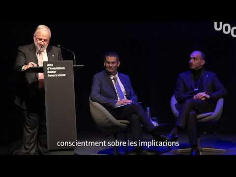 Parlament del rector en l'acte d'investidura del doctor honoris causa Alejandro Jadad.