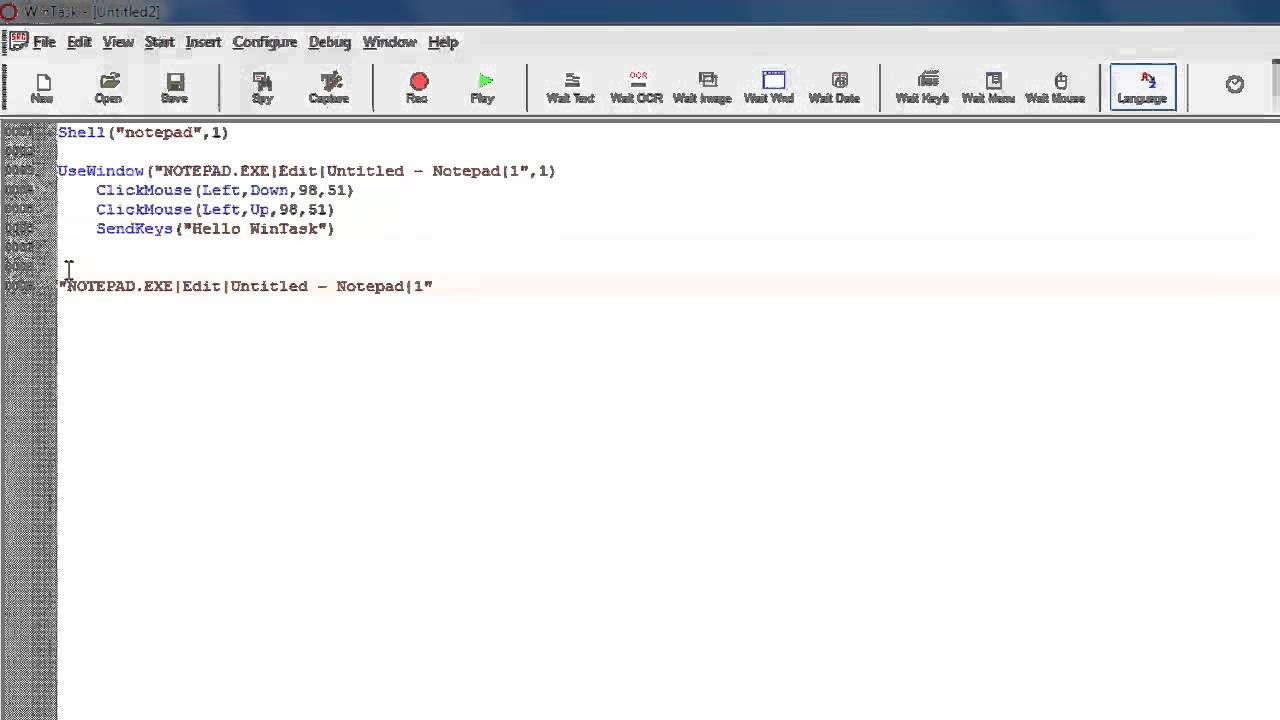 Spy tool on a Windows application