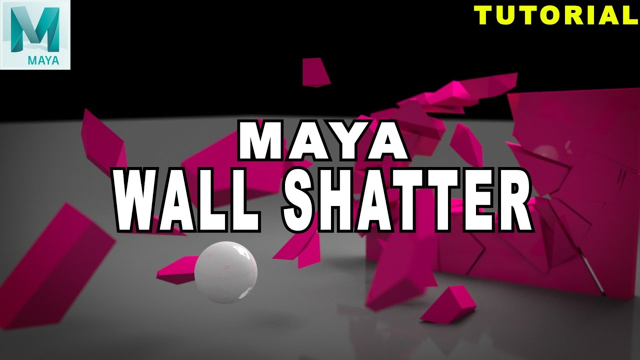 Maya Tutorial: How To Break A Wall Using Bullet Dynamics