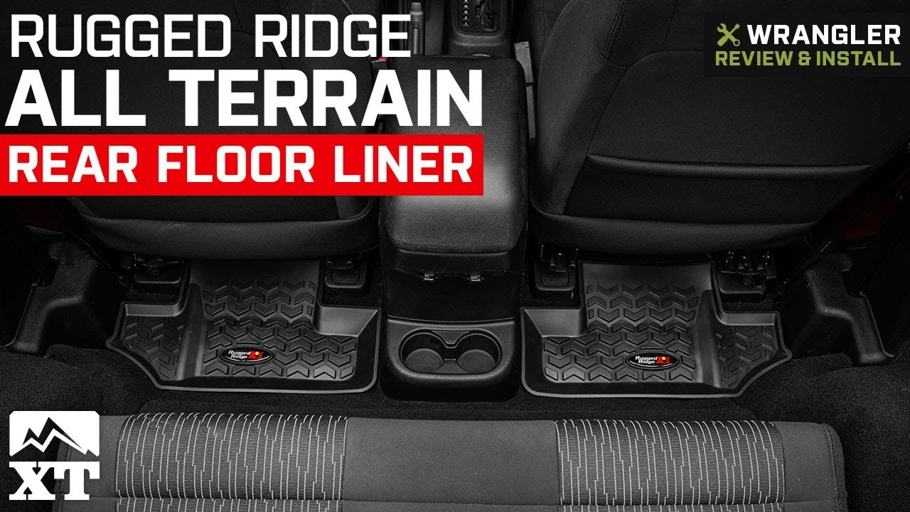 Jeep Wrangler Rugged Ridge All Terrain Rear Floor Liner 2007 2018