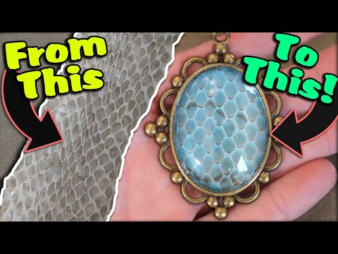 How to Turn your Reptile's Shed Skin into Jewelry!