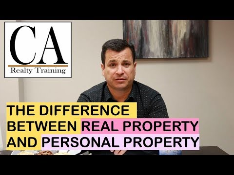 What Is The Difference Between Real And Personal Property? | CA Realty Training