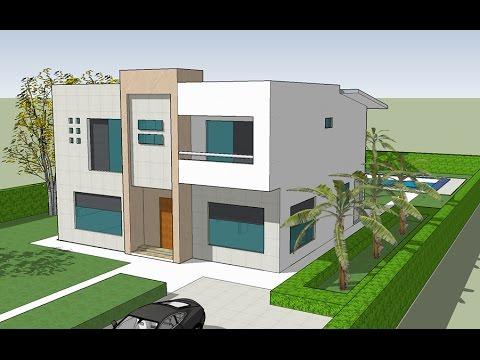 Plano casa 10x20 mts youtube for Casa moderna de 7 x 15