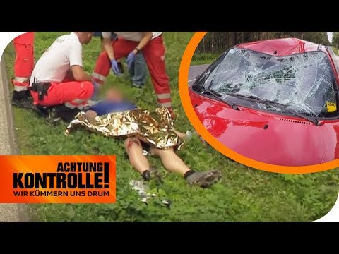 Schwerer Verkehrsunfall! Kann der Radfahrer gerettet werden? | Achtung Kontrolle | kabel eins