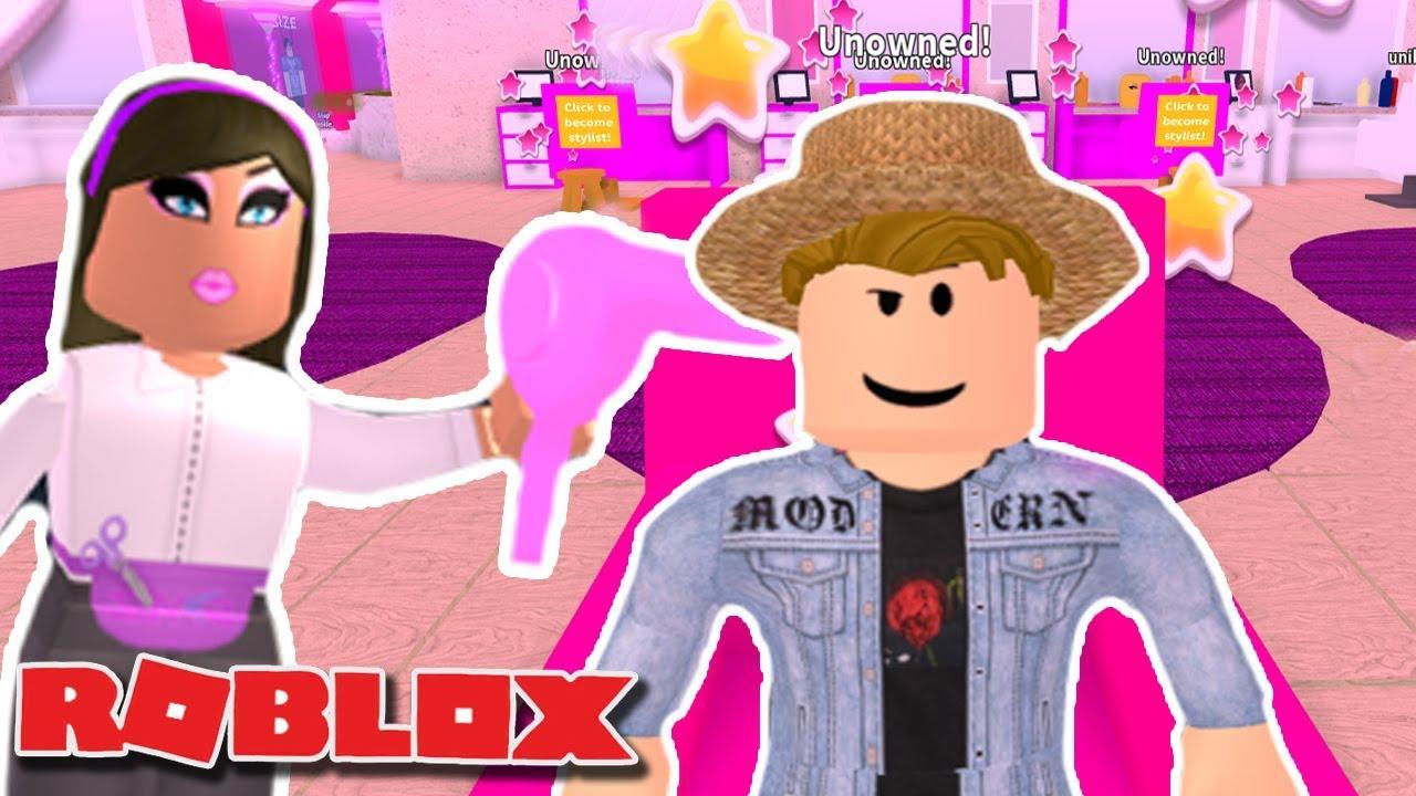 BOYFRIEND MAKEOVER | Giving My boyfriend A makeover on Roblox | Stylz Salon  & Spa | | Funny Moments