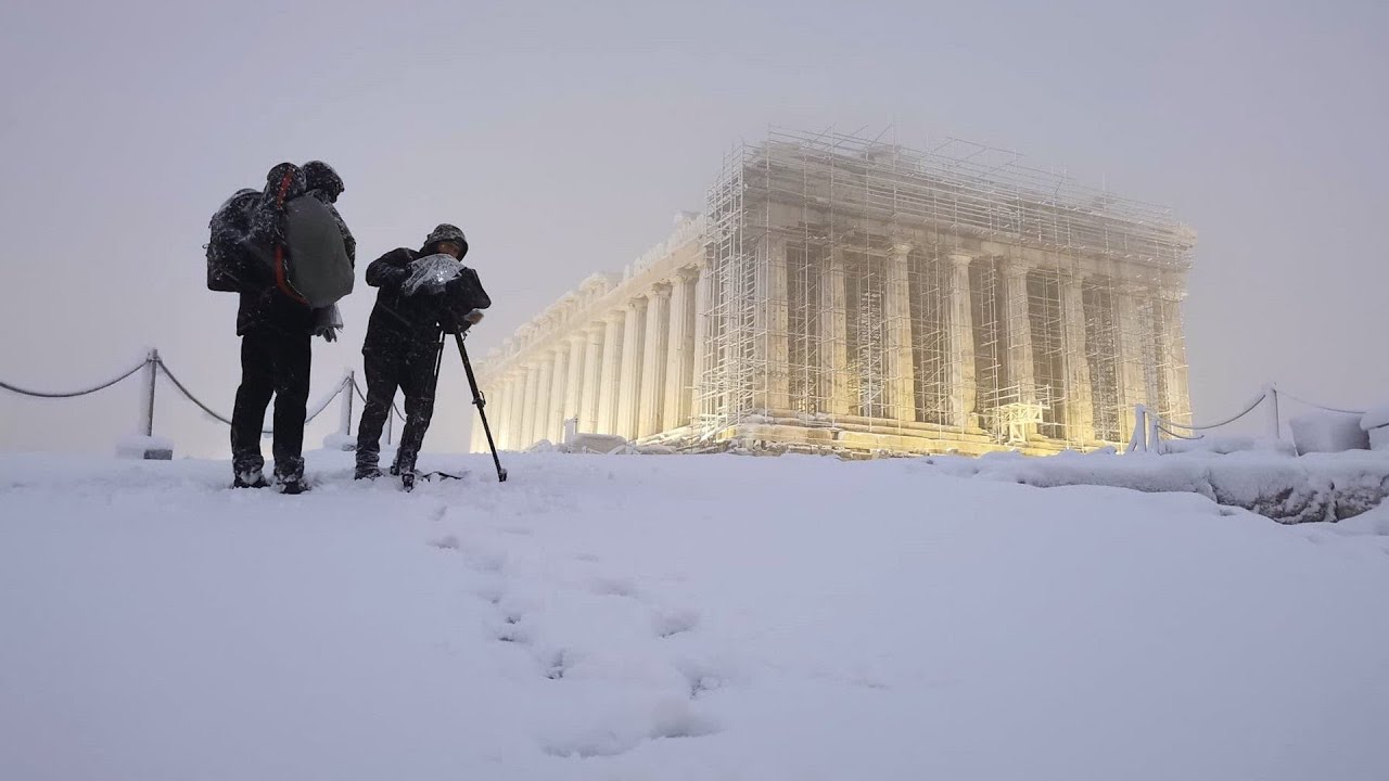 Not Texas, Athens, Greece Blanketed in Snow 2021