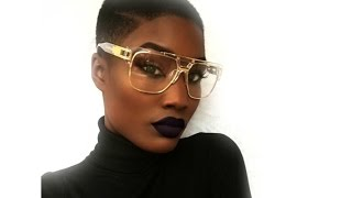 GRWM Dark skin - Bald head bold lip