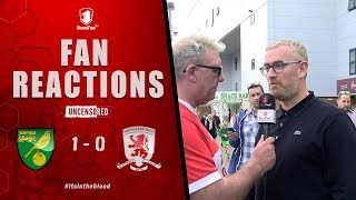 I COULD OF WENT TO SLEEP TODAY WE HAD NOTHING!  - Norwich v Middlesbrough Fan Reaction
