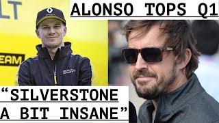 "Alonso Tops Qualifying Session - Massa ""No Reason to Retire"" - Hulkenberg ""Silverstone Insane"""