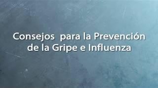 Consejos para la prevención de la gripe e influenza