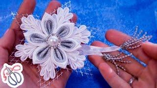 Como fazer pétalas de Kanzashi floco de neve