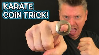 KARATE COIN Trick! - Finger Through Coin Magic Prank REVEALED!