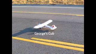 Big Scratch Electric Bush Plane -Part 7- Aerobatics New Colors Matts Maiden and Chasing George