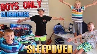 BOYS ONLY Secret Clubhouse Sleepover
