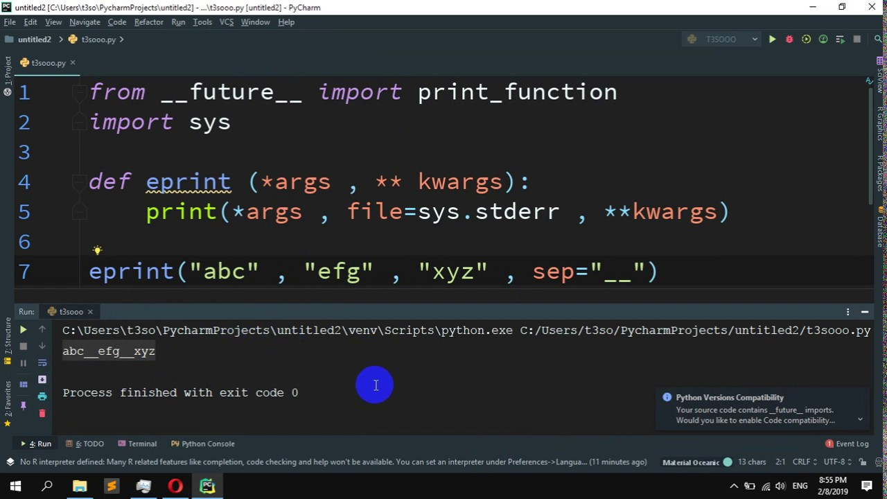 How to print to stderr in Python