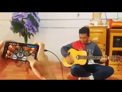 Dash Uciha - Merindukanmu Cover Kolaborasi  GITAR and REAL DRUM Terbaik Sedunia.